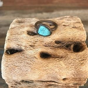 HAWKHOUSE Turquoise & Copper Nugget Ring